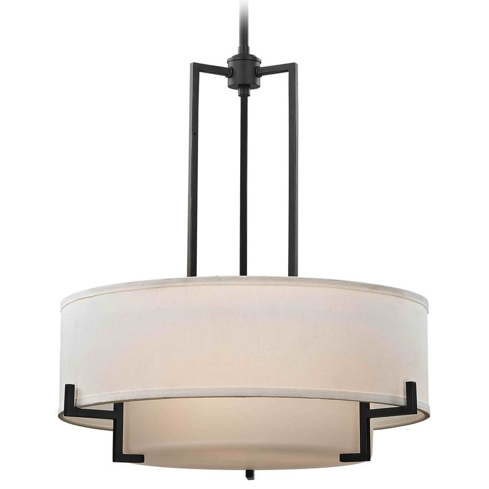 pendant shade fabric p lighting light drum texture