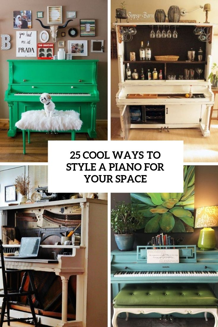 25 Cool Ways To Style A Piano For Your Space images