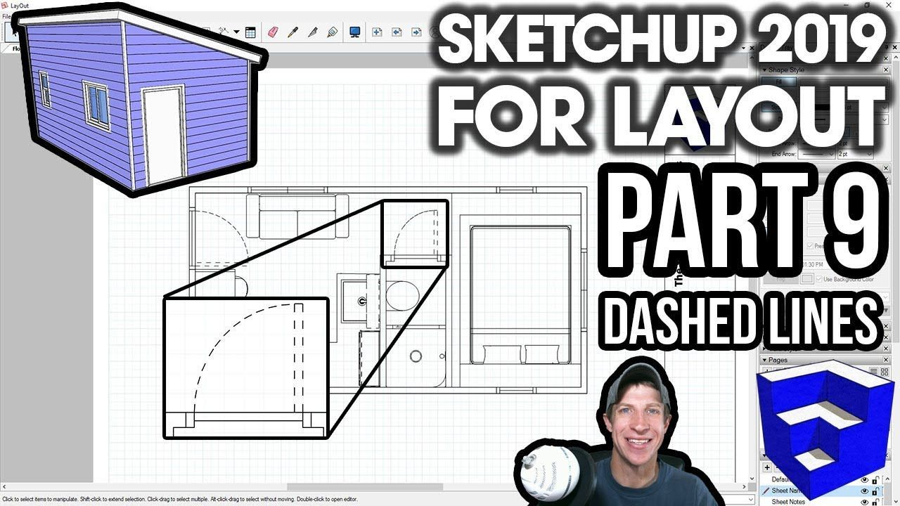 Sketchup 2019 For Layout Part 9 Using The Dashed Lines Feature