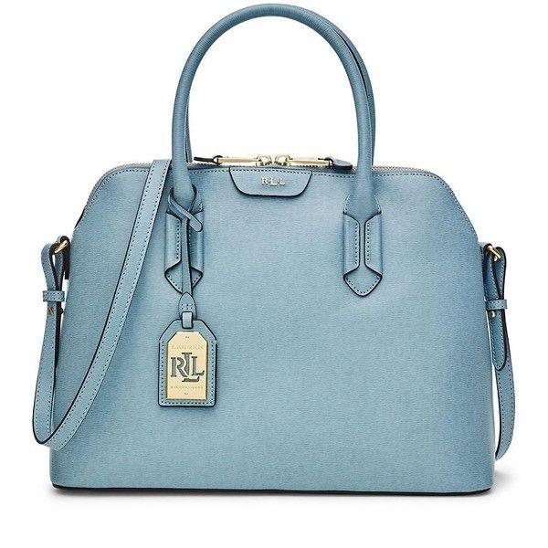 ... netherlands lauren ralph lauren tate dome satchel 120 liked on polyvore  featuring bags handbags cameo blue 08e89e0c5d83e