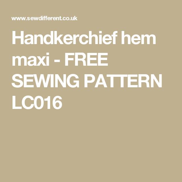 Handkerchief hem maxi - FREE SEWING PATTERN LC016