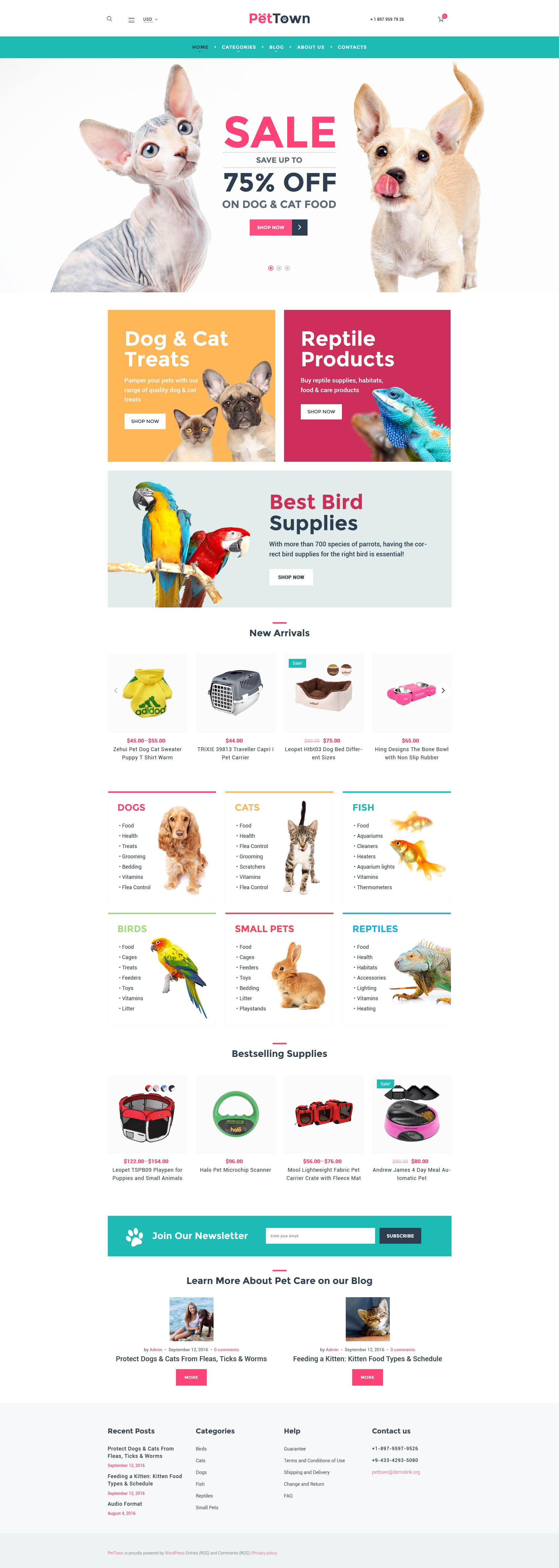 B Pet Shop Woocommerce Theme B Was Developed For Animal Supplies Stores Bright Colors Will Make The Atmosphere On Your Site Pet Store Pet Websites Pet Shop