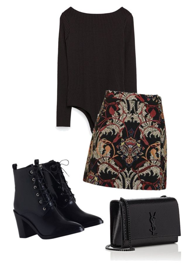 """Untitled #708"" by raegan-mackay on Polyvore featuring Zara, Topshop, Zimmermann and Yves Saint Laurent"