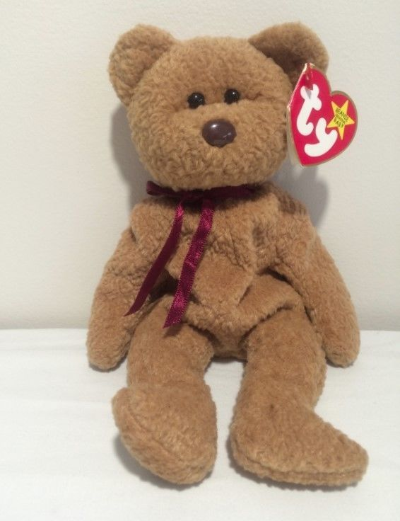 46e298b27b9 Ty Curly Rare Beanie Baby Bear Errors Babies Retired Misspelled MAKE AN  OFFER.  Ty