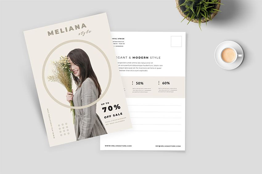 42 Best Postcard Templates Indesign Photoshop And More Postcard Design Layout Postcard Template Modern Postcard Design