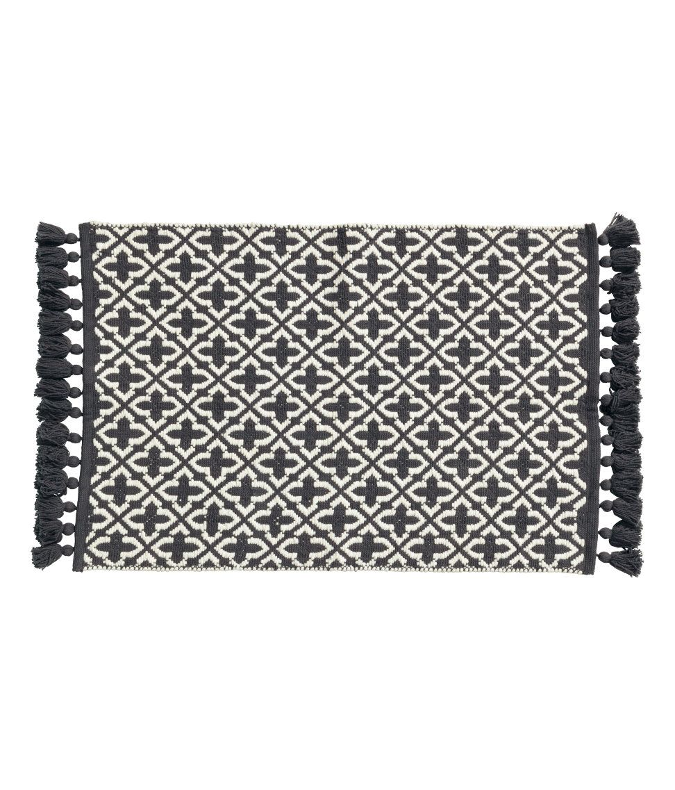 Badematte H&m Check This Out Bath Mat In Jacquard Weave Cotton Fabric With