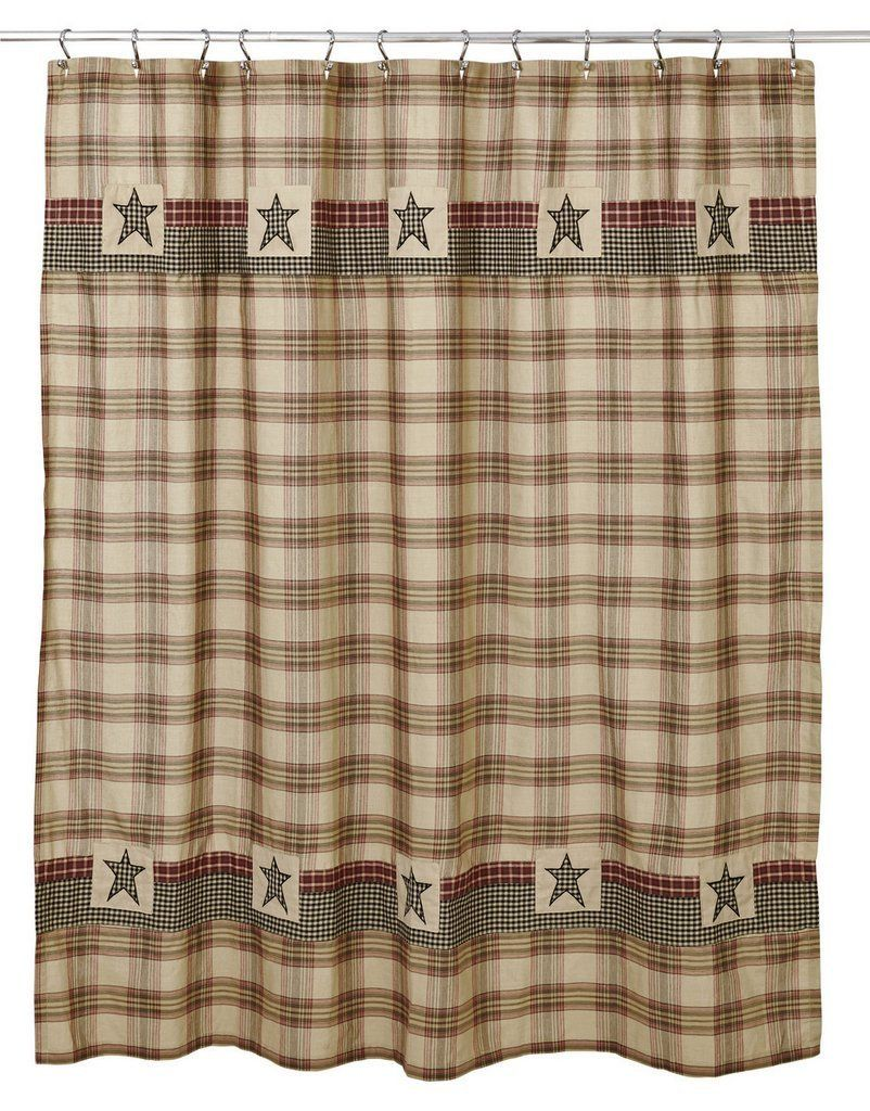 Primitive Shower Curtains At Primitive Star Quilt Shop Primitive Shower Curtains Primitive Bathrooms Country Shower Curtain