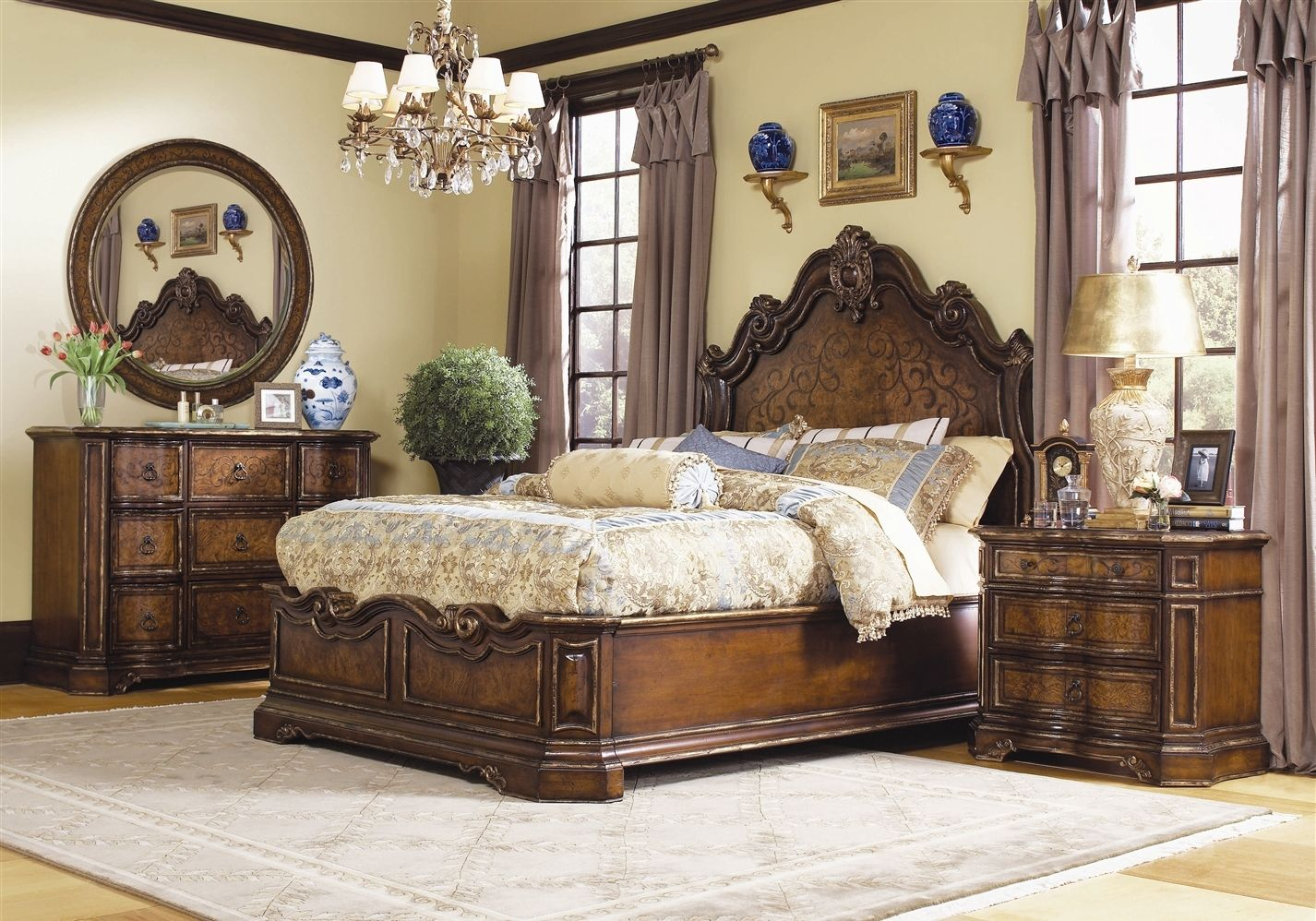 High End Traditional Bedroom Furniture 1 Decoration Full ...
