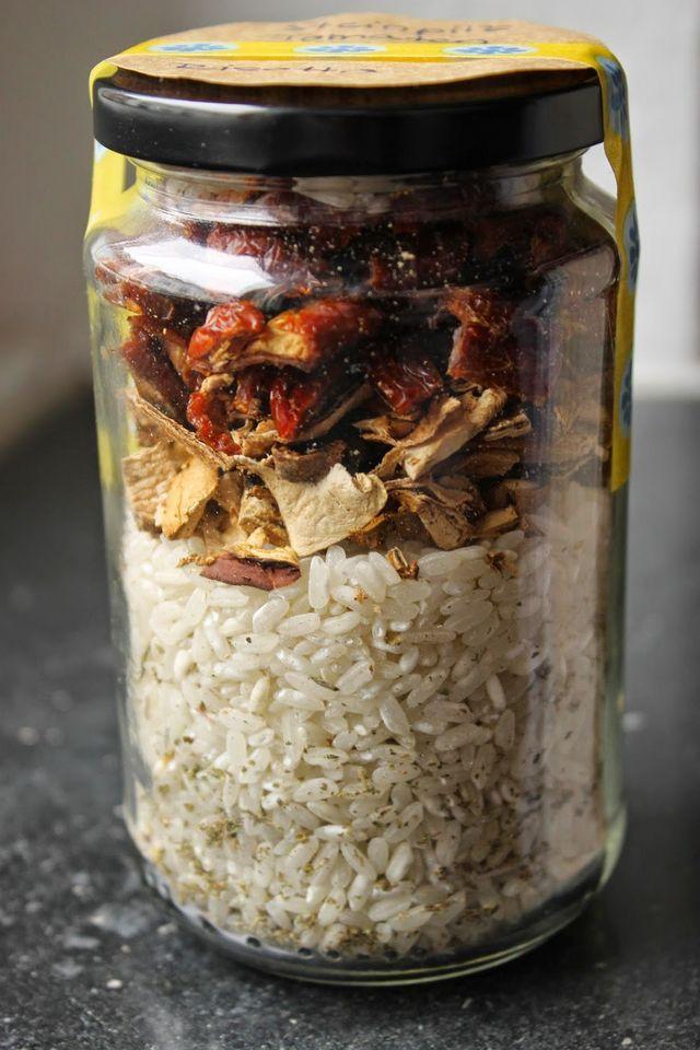 Geschenke aus der Küche Steinpilz Tomaten Risotto im Glas - geschenke für die küche