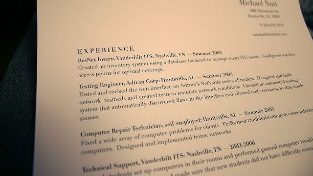 Create Resume Templates To Save Time Avoid Sending Out The