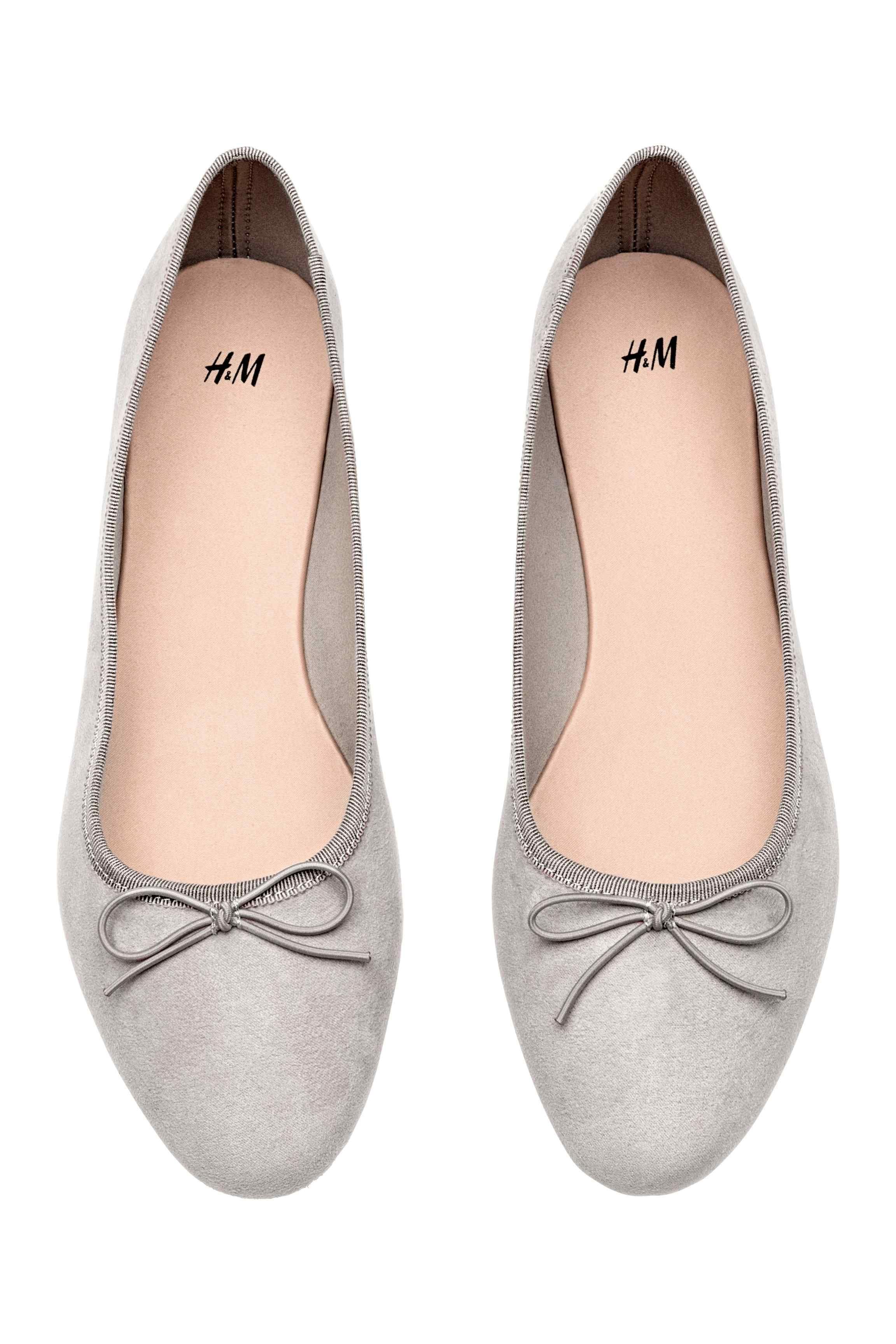 Journee Collection Womens Lena Light Grey Ballet Flats