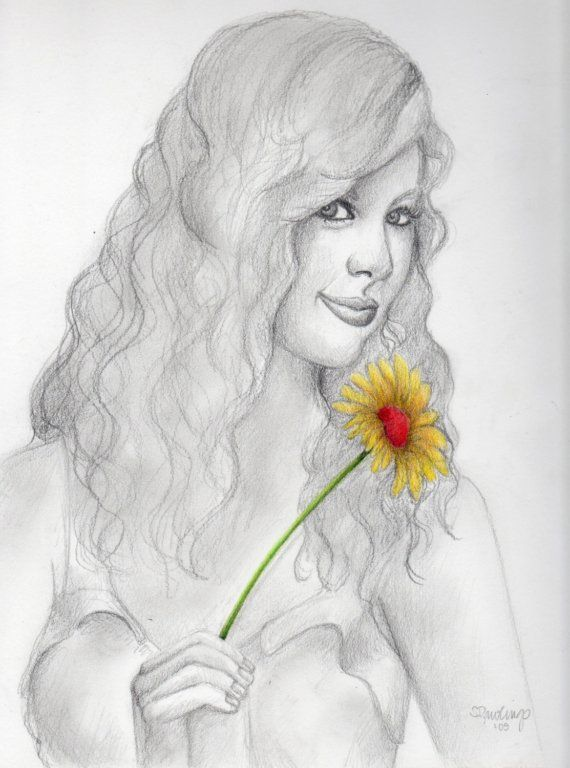 Taylor, original pencil and colored pencil drawing   My art   Pinterest