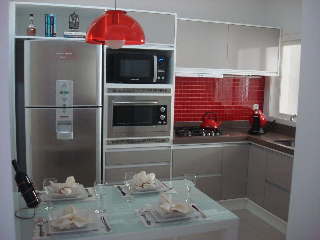 cozinha apartamento pequeno design interiores | Small Spaces ...
