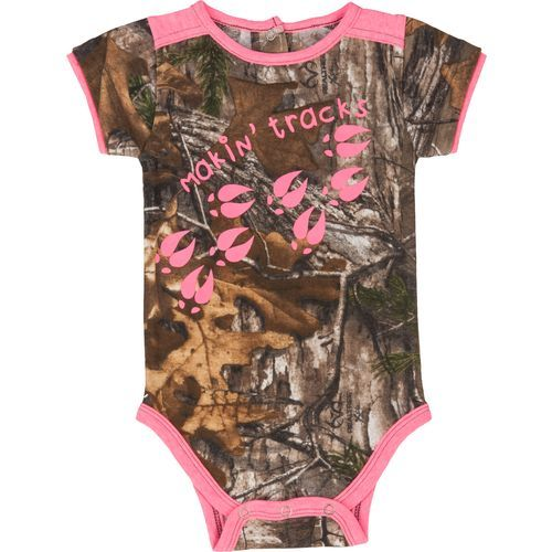 a6caec6af0334 Game Winner® Infant Girls' Realtree Xtra® Colorlock 'Makin Tracks' Onesie