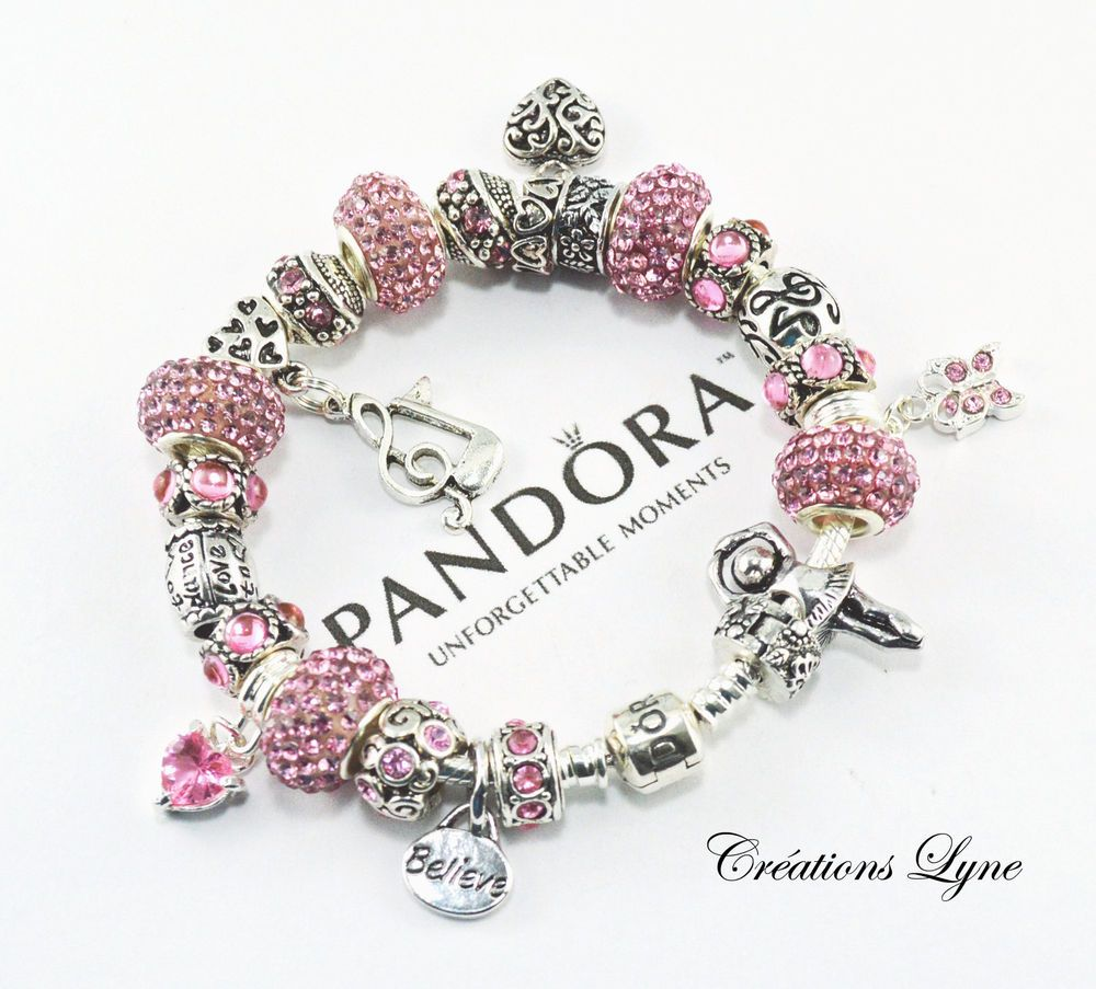 Authentic Pandora Sterling Silver 925 Charm Bracelet