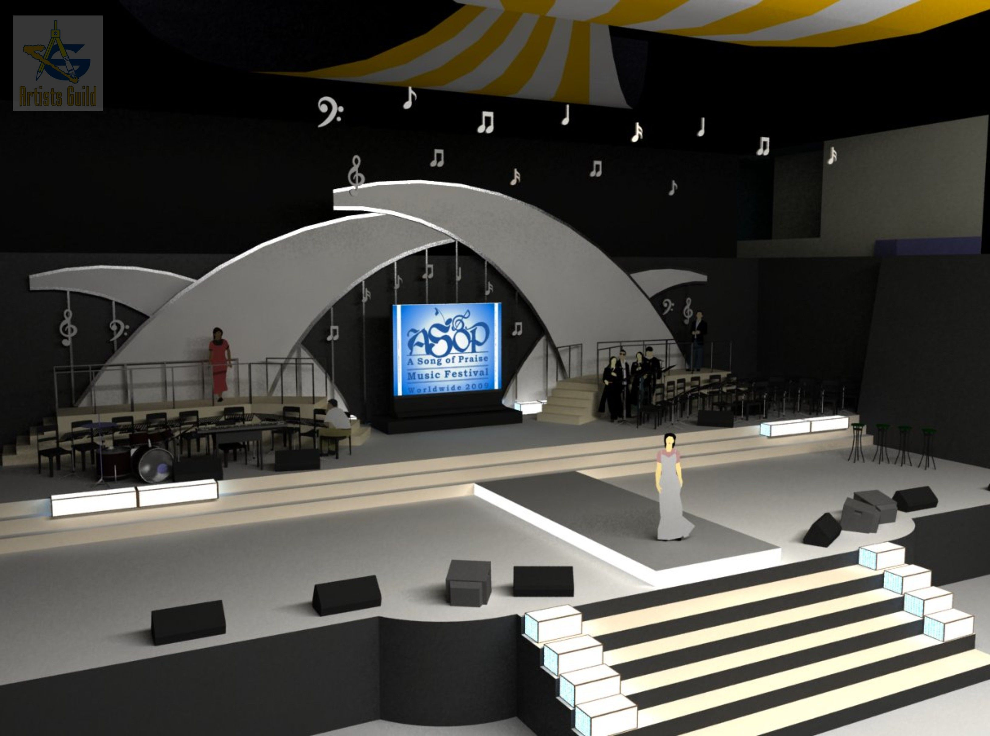 Concert Stage Design Ideas stage design by ibnuamali stage design Microsoft Stage Design Neutralart Concept By Rendy Ray