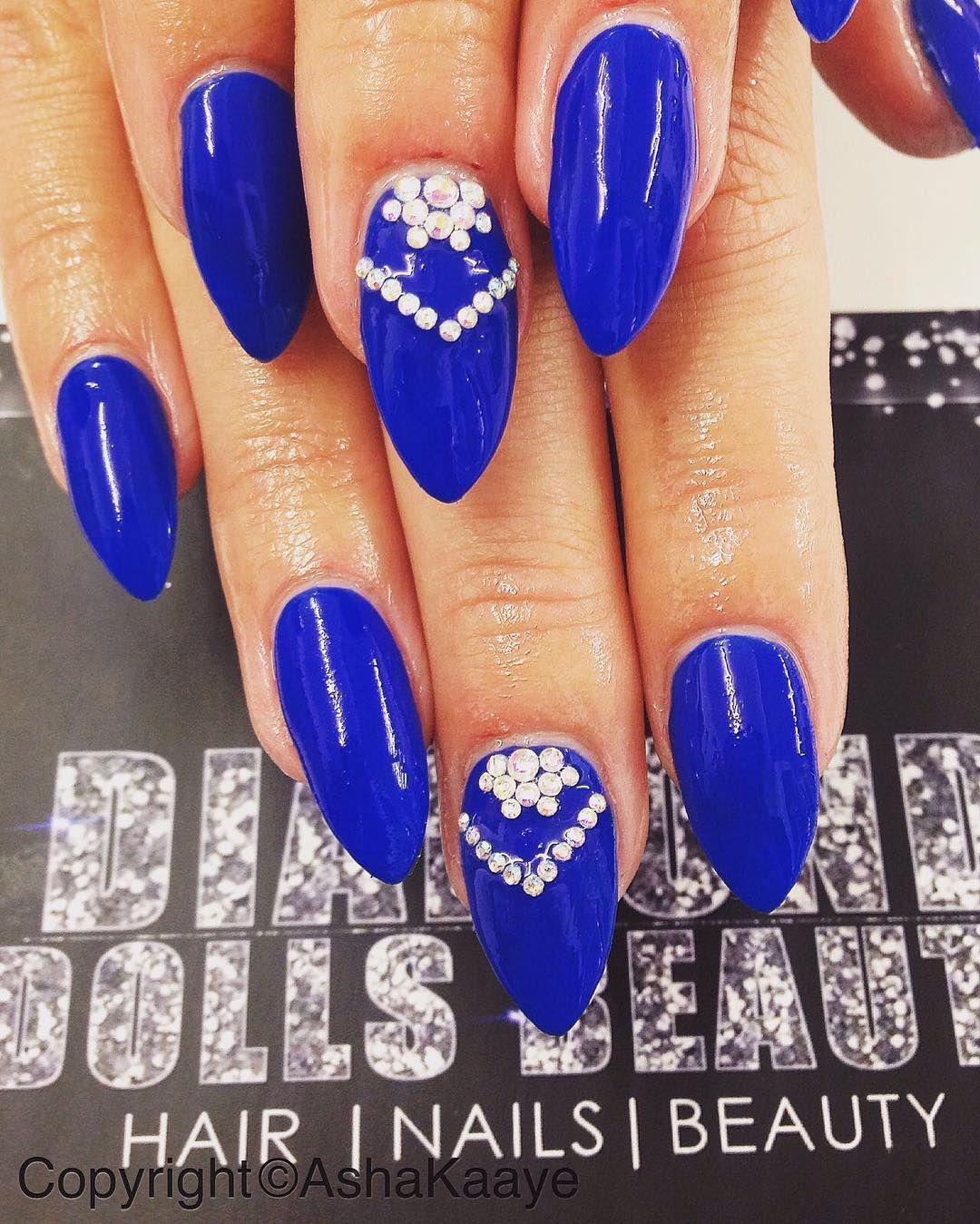 Daneloo Colourful Acrylic Nails Blue Nail Art Designs Acrylic Nail Designs