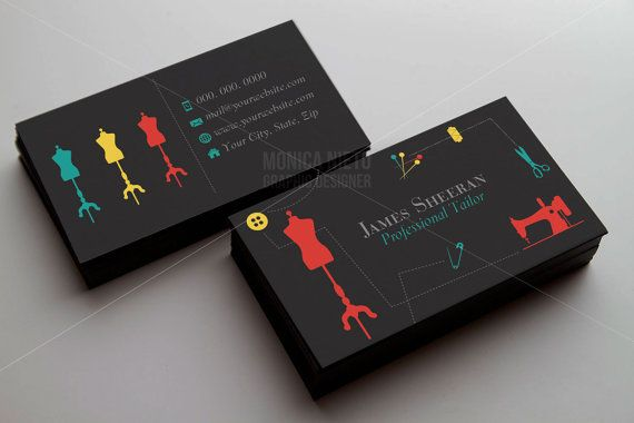 Tailoring services business card tailor business cards alteration custom premade tailor business cards template businesscards colourmoves