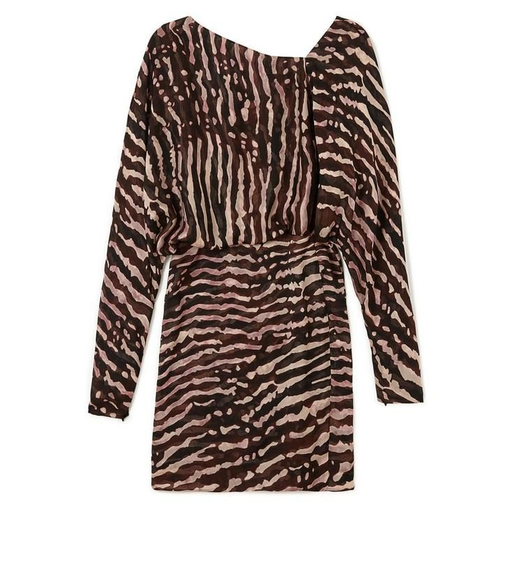 TOM FORD PRINTED MINI BLOUSON TOP DRESS. #tomford #cloth #dress