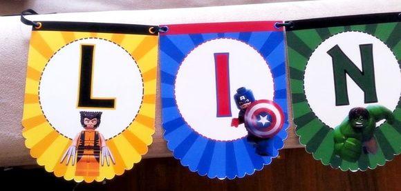 Lego Avengers - Bandeirolas