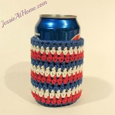 Striped-Can-Cozy-by-Jessie-At-Home-Free-Crochet-Pattern
