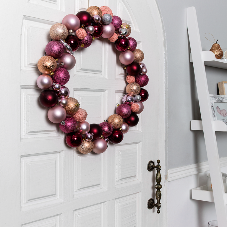 Recycled bauble wreath