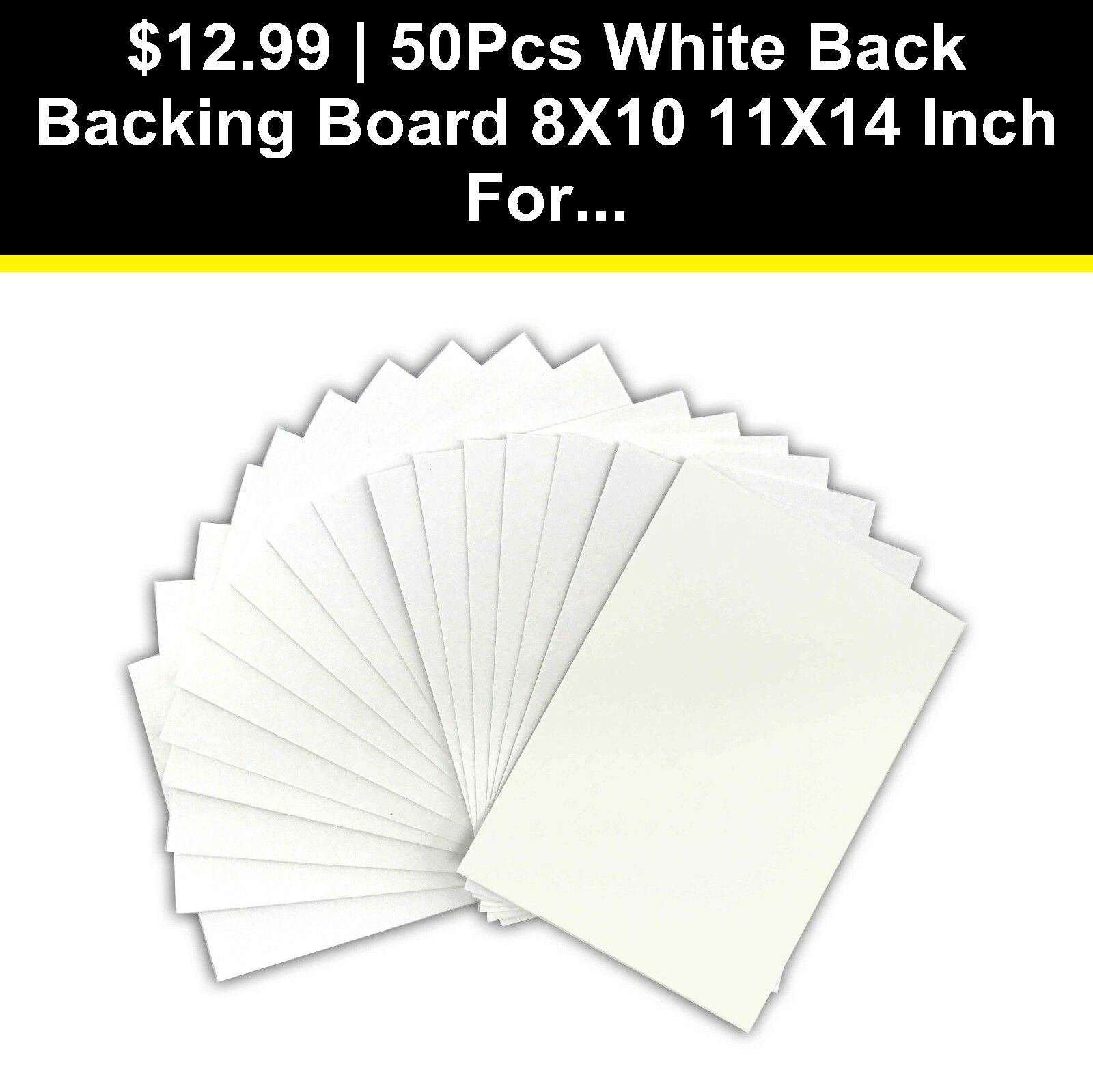 50pcs White Back Backing Board 8x10 11x14 Inch For Art Picture Photo Frame Usa Frame Usa Art Pictures Photo Frame
