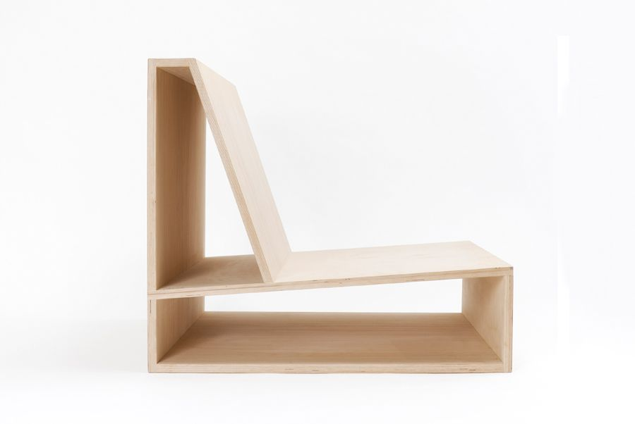 Clean lines. Elegance. Practicality. Simplicity. An architect's eye turned to furniture has resulted in this minimalist chair by Pierre Thibault. Transform your space. #design #wood #curated
