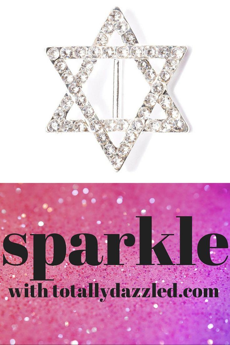 Star of david rhinestone slide buckle 324-s | Jewish wedding ...