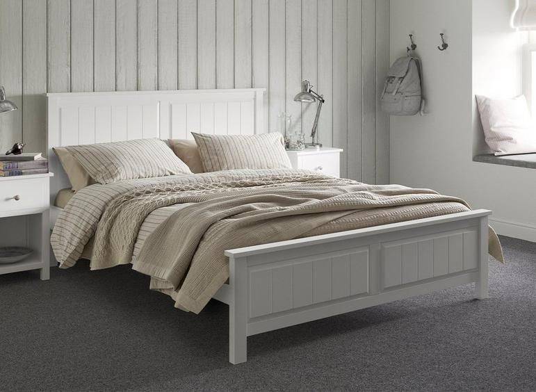 Woodbridge Wooden Bed Frame White Wooden Bed White Bed Frame