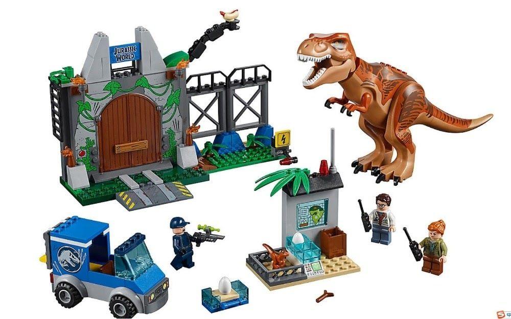 Cheap Price 2018 Hot Jurassic World 2 T Rex Breakout Building Block Bricks Toys Compatible Legoings Jurassic Park Dinosaur 10758 Lego Juniors Lego Jurassic World Lego Jurassic