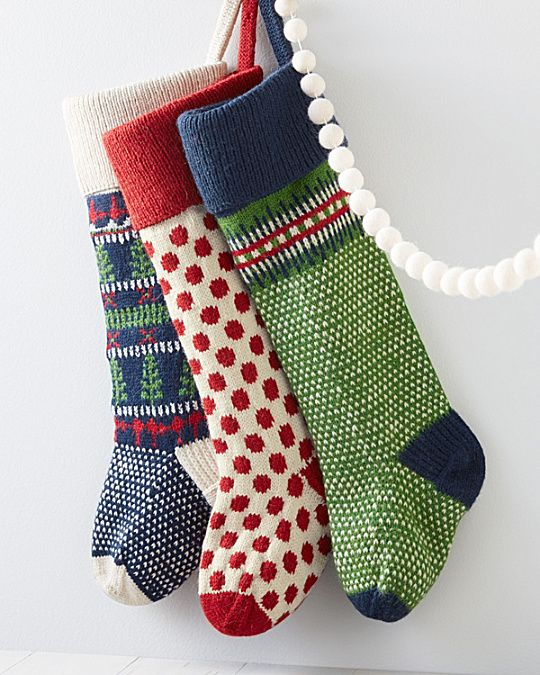 Garnet Hill Fair Isle Woolen Stocking | for mom to knit ...