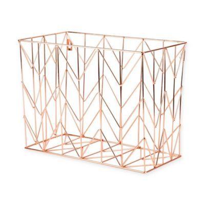 Copper Wire Hanging File Basket In 2020 Hanging Files Desk Organization Hanging File Organizer
