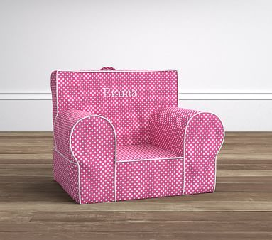 Bright Pink Mini Dot Anywhere Chair 174 Pbkids Pottery