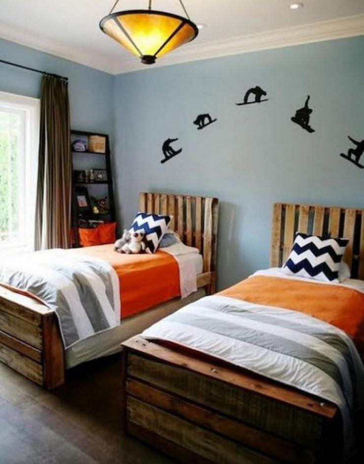 12 lits et meubles de chambre r alis s partir de palettes de manutention meubles en palettes. Black Bedroom Furniture Sets. Home Design Ideas