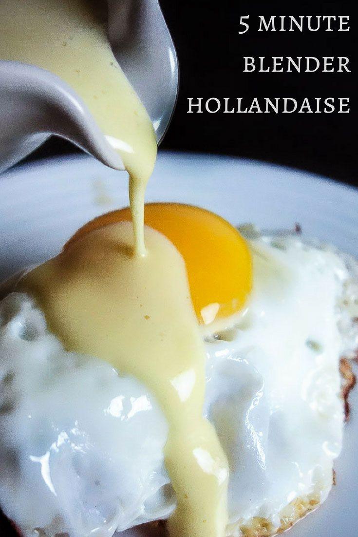 5 Minute Blender Hollandaise Sauce #hollandaisesauce