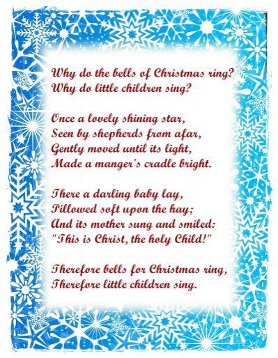 For Xmas Poems For Children Christmas Poems Christmas Verses