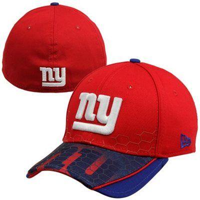 New Era New York Giants Hybrid Hex 39THIRTY Flex Hat - Red Royal Blue 2acd14634