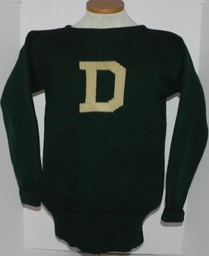 eddf1be18db Circa 1920's Dartmouth College James Brine Brand Football Letterman  Sweater. This heavy wool sweater features a large white D within the wool  of the chest ...