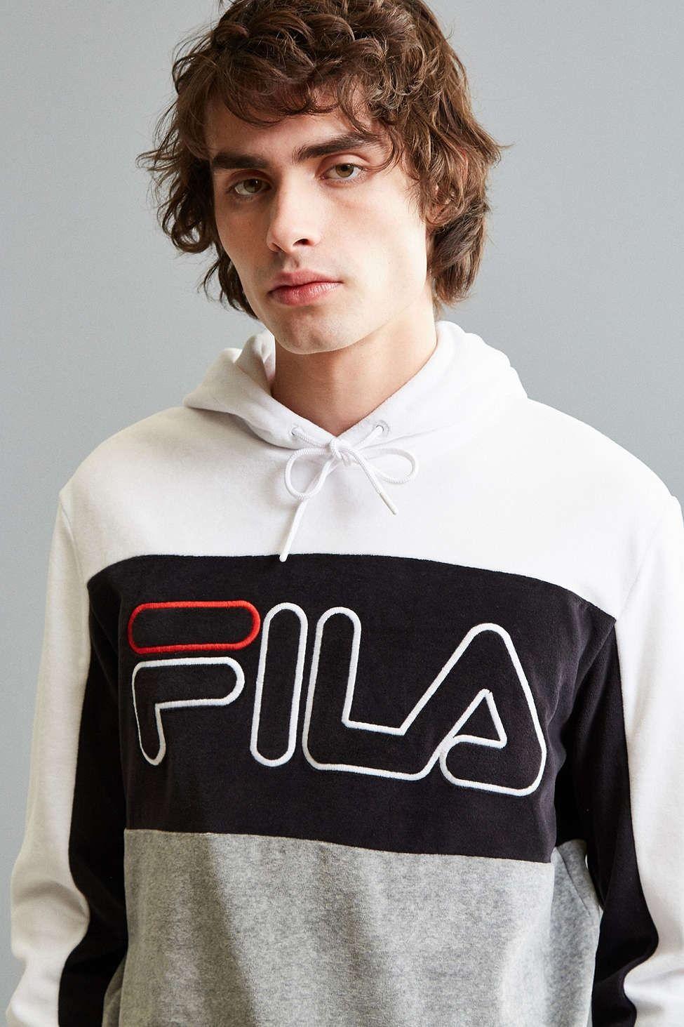 FILA Velour Hoodie Sweatshirt | Klamotten | Fila velour
