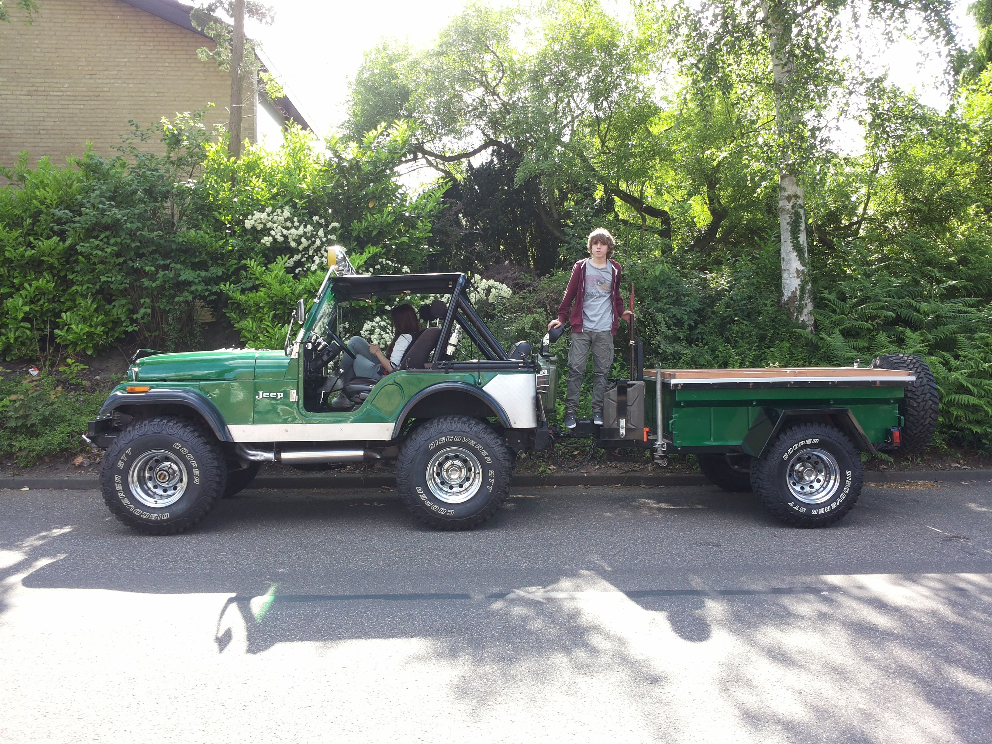 My jeep cj5 with my kids