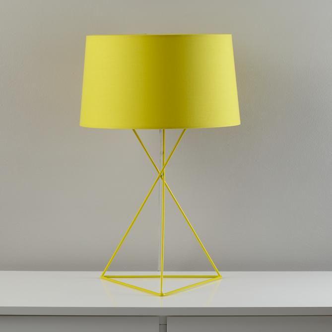 The Land Of Nod Kids Lighting Yellow Steel Wire Table Lamp In All Lighting Yellow Table Lamp Table Lamp Lamp