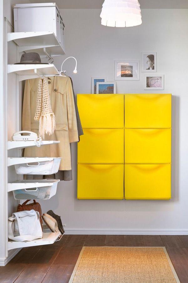 Hallway organization has never looked so good! IKEA TRONES shoe ...