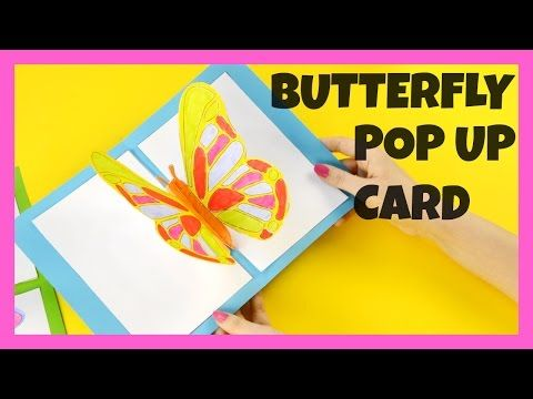 A Collection Of The Best Craft Ideas Craft Videos How To Tutorials Instructions And Craft Guides For Yo Pop Up Card Templates Card Tutorial Butterfly Crafts