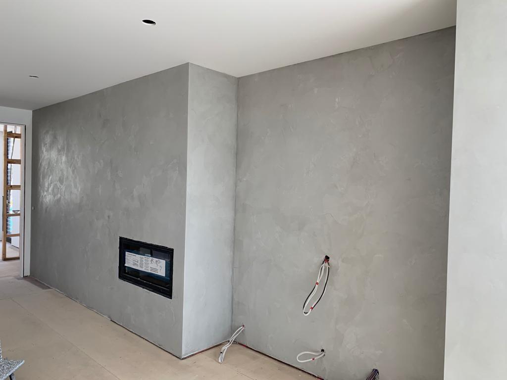 Grey Venetian Plaster Fireplace Venetian Plaster Walls Venetian Plaster Plaster Walls