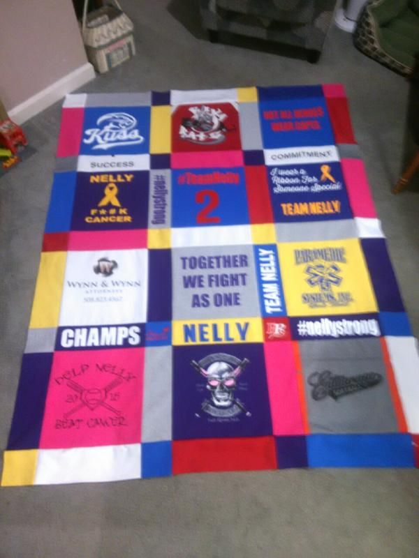 T Shirt Quilt Great Idea For A Quick Easy Cute Personalized