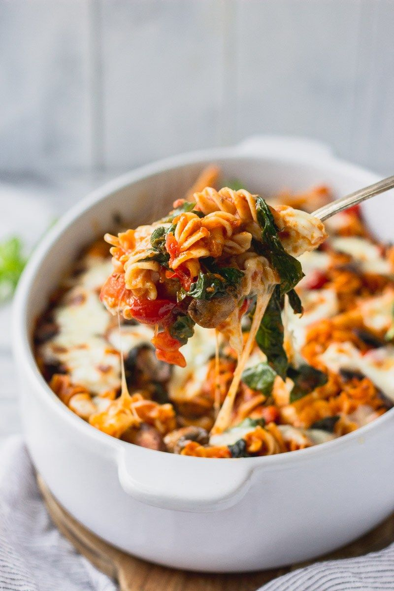 Vegetable Loaded Baked Pasta images