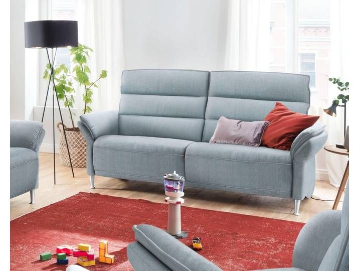 Places Of Style 3 Sitzer Dover Wahlweise Mit Relaxfunktion Links Oder Rechts Blau Struktur Weich 3 Sitzer Sofa 3er Sofa Sofas