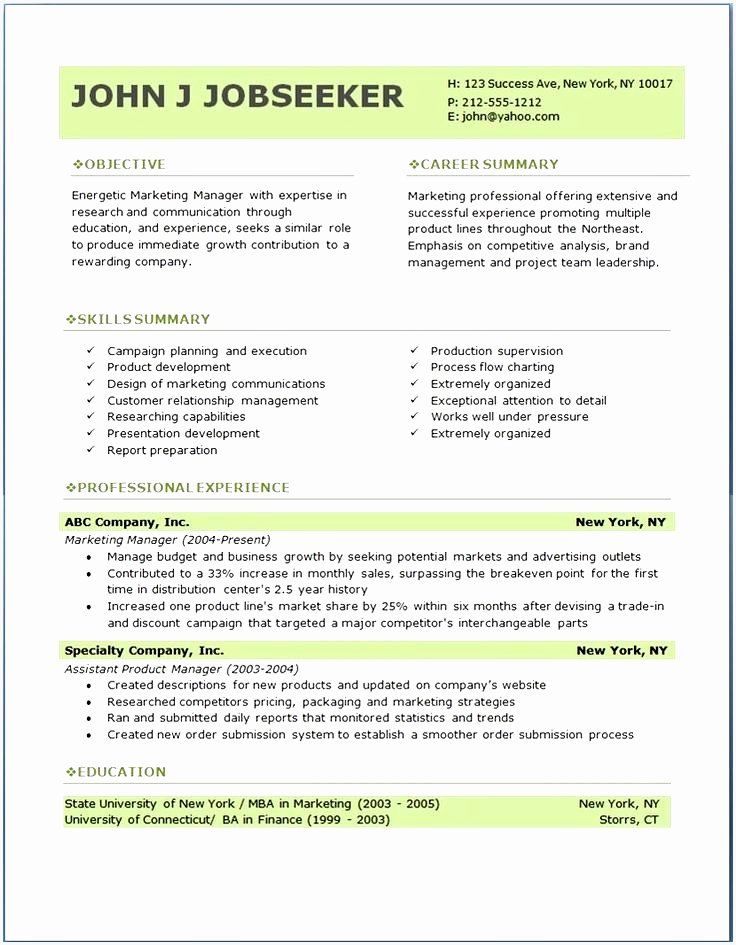 25 Resume Template Microsoft Word Mac in 2020