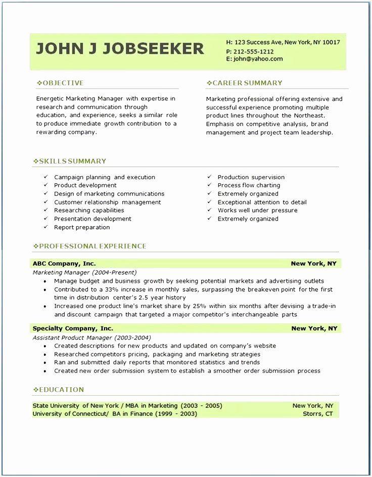 25 Resume Template Microsoft Word Mac in 2020